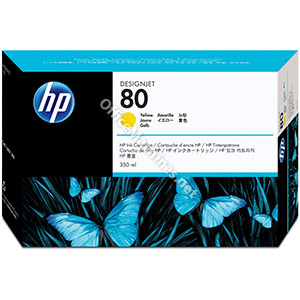 Hewlett Packard No. 80 Inkjet Cartridge 350ml Yellow