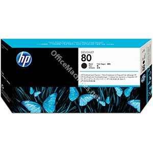 Hewlett Packard No. 80 Inkjet Printhead and Cleaner Black