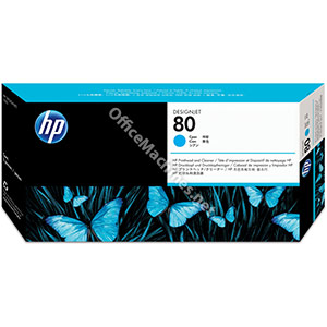 Hewlett Packard No. 80 Inkjet Printhead and Cleaner Cyan