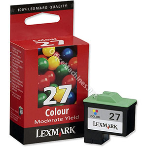 Lexmark No. 27 Inkjet Cartridge Page Life 140pp Colour