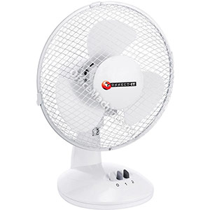 Desk Fan Oscillating Silent Non-tilt 2-Speed Cable 2m Dia.229mm