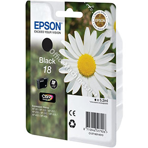 Epson 18 Inkjet Cartridge Daisy Capacity 5.2ml Black