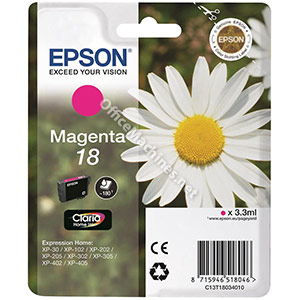 Epson 18 Inkjet Cartridge Daisy Capacity 3.3ml Magenta
