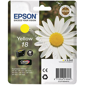 Epson 18 Inkjet Cartridge Daisy Capacity 3.3ml Yellow