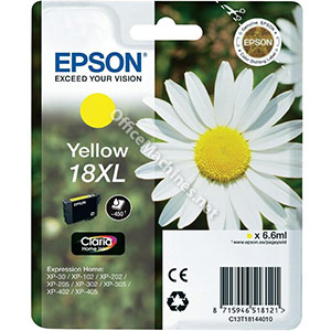Epson 18XL Inkjet Cartridge Daisy High Capacity 6.6ml Yellow