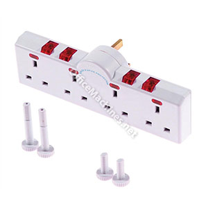 4 Way Switched Neon Gang Surge Protector