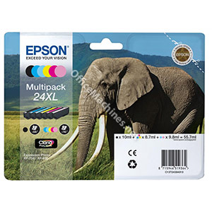 Epson 24XL Inkjet Cartridge Multipack Capacity 55.7ml B/C/M/Y/LC/LM