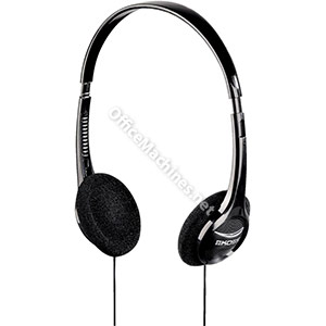 Computer Headset Padded Volume Control 1.2m Cable Black