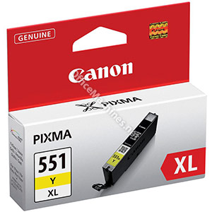 Canon CLI-551Y XL Inkjet Cartridge Page Life 685pp Yellow
