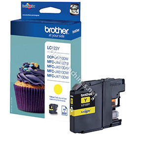 Brother Inkjet Cartridge Page Life 600pp Yellow
