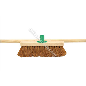 Bentley 12in Soft Coco Broom with Handle & Bracket