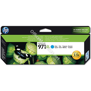 Hewlett Packard No. 971XL Inkjet Cartridge Page Life 6600pp Cyan