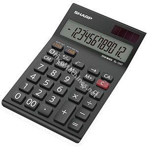 Sharp EL124TWH Calculator Desktop