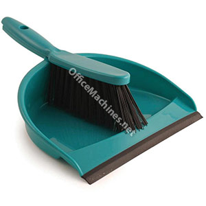 Dustpan and Brush Set Soft Bristle Green
