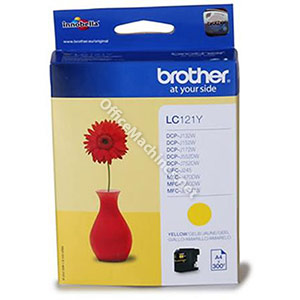 Brother Inkjet Cartridge Page Life 300pp Yellow