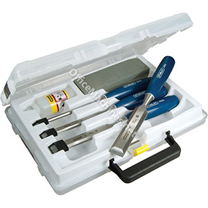 Stanley Chisel Set and Sharpening Kit with Storage Box