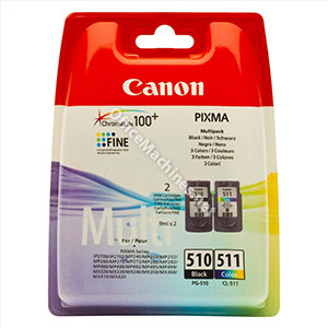 Canon PG-510/CL-511 Inkjet Cartridge Page Life 220 Black 224 Colour