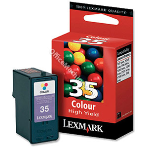 Lexmark No. 35 Inkjet Cartridge High Yield Page Life 450pp Colour