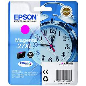 Epson 27XL Inkjet Cartridge Alarm Clock Capacity 10.4ml Magenta