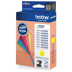 Brother Inkjet Cartridge 5.9ml Page Life 550pp Yellow