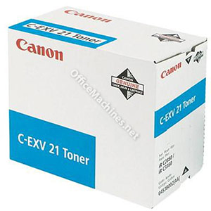 Canon CEXV21 Laser Toner Cartridge Page Life 14000pp Cyan
