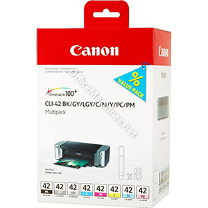 Canon CLI-42 Inkjet Cartridge Multipack Black and 7 Colours