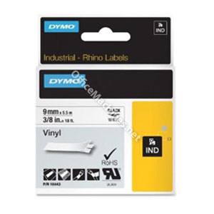 Dymo 18443 9mm White Vinyl Tape