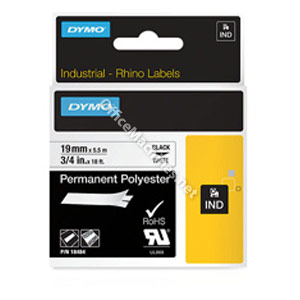 Dymo 18484 19mm Black on White Tape