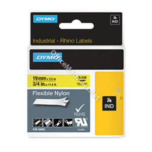 Dymo 18491 19mm Yellow Tape