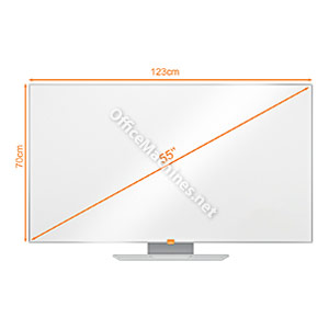 Nobo 1905303 55 Inch Widescreen Enamel Whiteboard