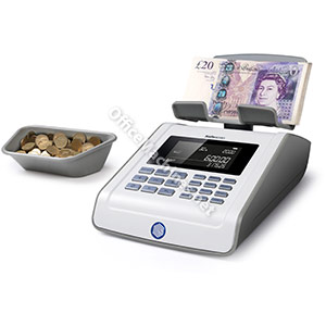 Safescan 6185 Grey Advanced Money Counting Scale for Coins and Banknotes