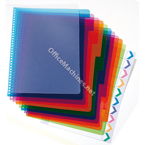 GBC PolyDividers - Polypropylene Cover + 5 Part Index Set