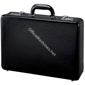 Alassio Attache Case Leather 3x A4 Compartments Expandable by 20mm Black