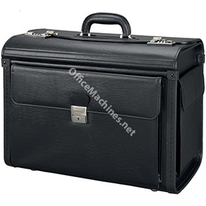 Alassio Vicenza Pilot Case Multi-section 2 Combination Locks Leather-look Black