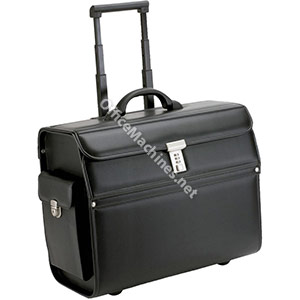Alassio Mondo Trolley Pilot Case Laptop Compartment 2 Combination Locks Leather-look Black