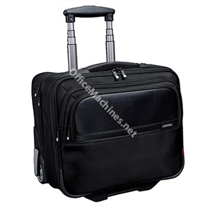 Lightpak Executive Trolley with Detachable Laptop Sleeve Nylon Capacity 17in Black