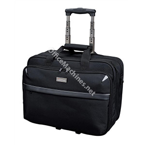 Lightpak Business Trolley Bag with Laptop Compartment Nylon Capacity 17in Black