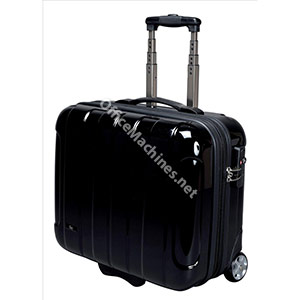 JSA Business Trolley ABS Polycarbonate with Removable Laptop Case Black