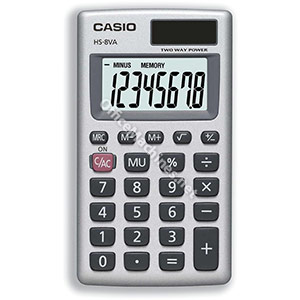 Casio Calculator Handheld Battery/Solar-power 8 Digit 3 Key Memory 57x102x8mm