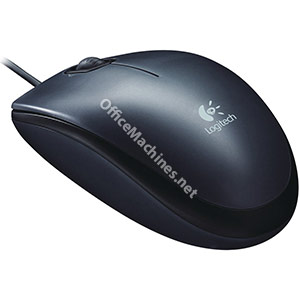 Logitech M100 Mouse USB Wired Optical 1000dpi 3-Button Dark