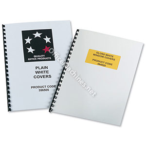5 Star Gloss With Window Light Weight Binding Covers A4