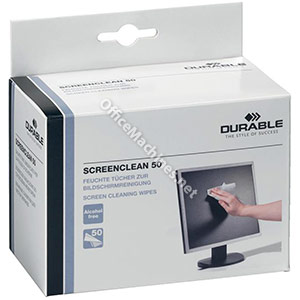 Durable Screenclean Individually Packed Moist Low Lint Wipes Pre-saturated