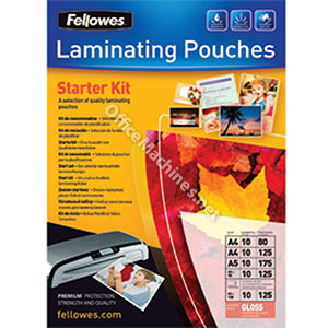 Fellowes Starter Kit of Laminating Pouches