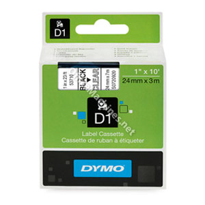 Dymo 53710 24mm Black on Clear Tape