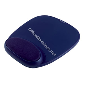 Kensington 64273 Gel Mousepad with Wrist Rest Blue