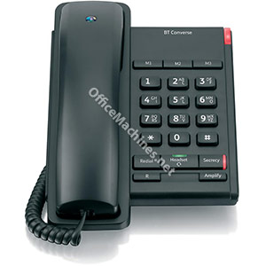 BT Converse 2100 Telephone 1 Redial Mute Function 3 Number Memory Black