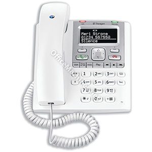 BT Paragon 550 Telephone Corded Answer Machine 100 Memories SMS Caller Inverse Display