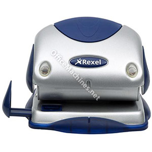 Rexel P215 Punch 2-Hole with Nameplate Capacity 15x 80gsm Silver and Blue
