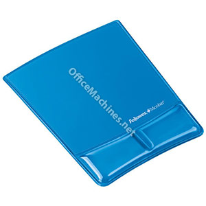 Fellowes 9182201 Crystal Mouse Pad & Wrist Support