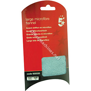 5 Star Large Washable Microfibre Flannel